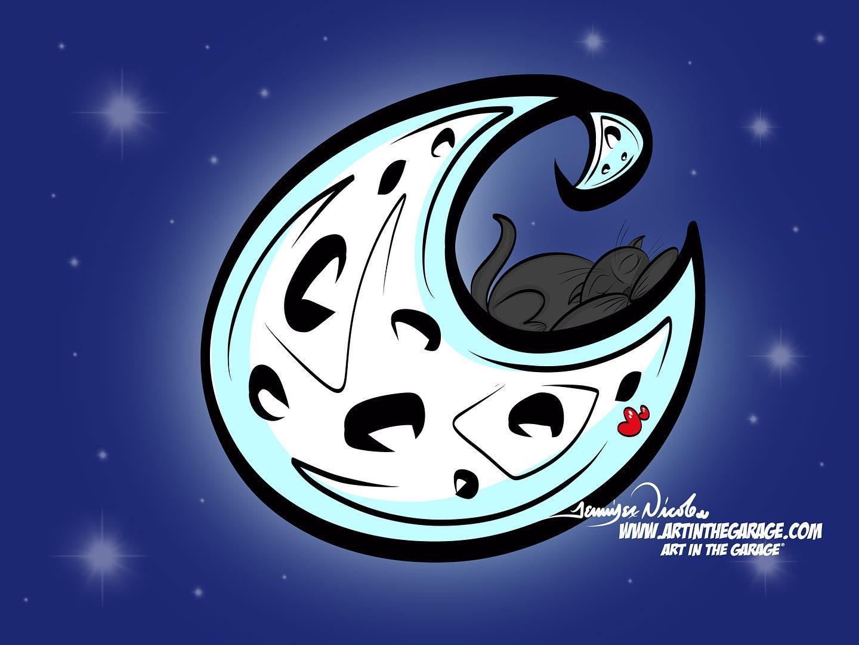 7-31-20 Moon & Cats