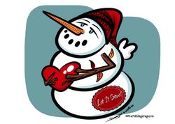 1-22-16 Snowman Weather