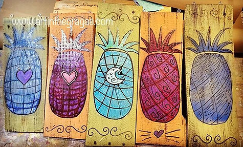 Sneak Peek.... Pineapple Folk Art!!! Ava