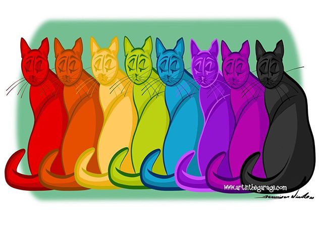 6-21-16 Rainbow Kitties