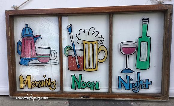 Morning Noon & Night: Folk Art Window