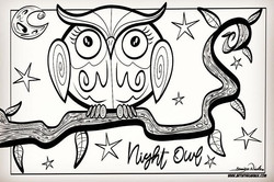 2-19-19 Night Owl Coloring Page AITG