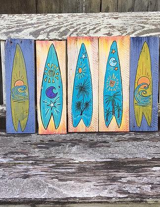 Surf Board Folk Art