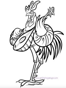 5-30-15 Rooster Minstrel Outline