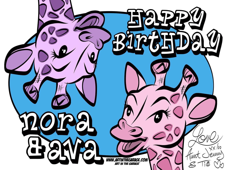 10-16-20 Happy Birthday Nora & Ava