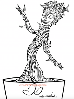 6-14-15 Baby Groot Outline