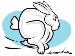 1-7-15 Bunny Clip Art Blue Backgroun