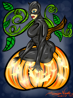 10-18-13 Black Cats And Pumpkins