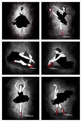 Noir Dancer Series: The Ballerinas In Red Shoes