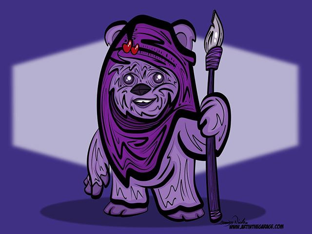 3-15-18 For Endor And Purple Ewoks Everywhere.  I got a special request for a purple Ewok from a pre