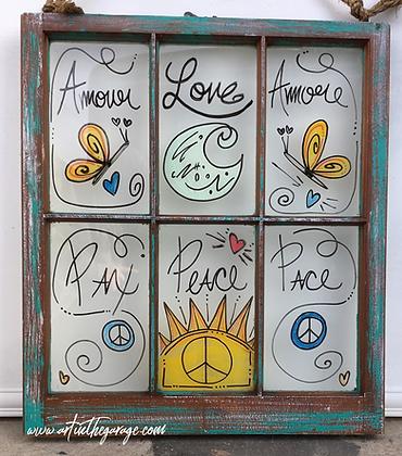 Love & Peace: Folk Art Window