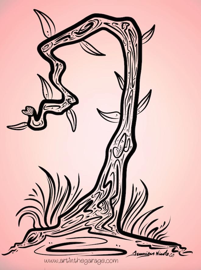 8-7-15 Love Tree Outline