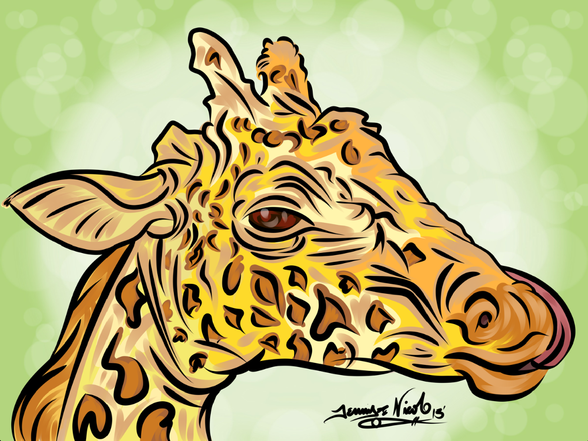 8-8-13 Giraffe Completed