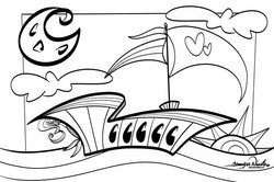 5-19-19 Sailing Coloring Page By Art In