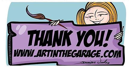 Thank You www.artinthegarage.com
