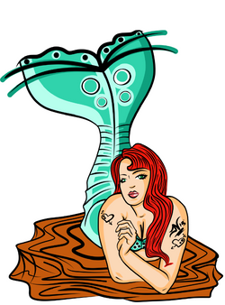 4-27-13+Mermaid Inked Not Finished