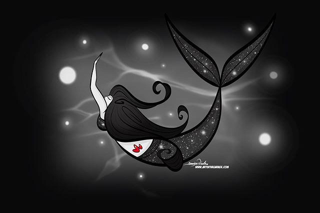 8-7-19 Noir Mermaid. Last one, promise