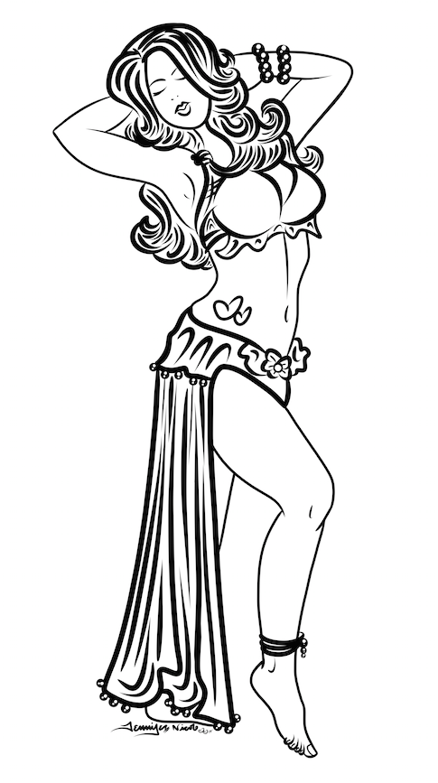 8-7-14 Belly Dancer Sketch.png
