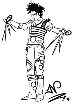 4-16-13 Edward Scissor Hands Sketch