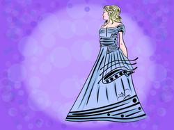 5-28-13 Woman In Dress Inked