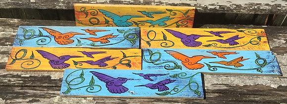 Hummingbirds Folk Art