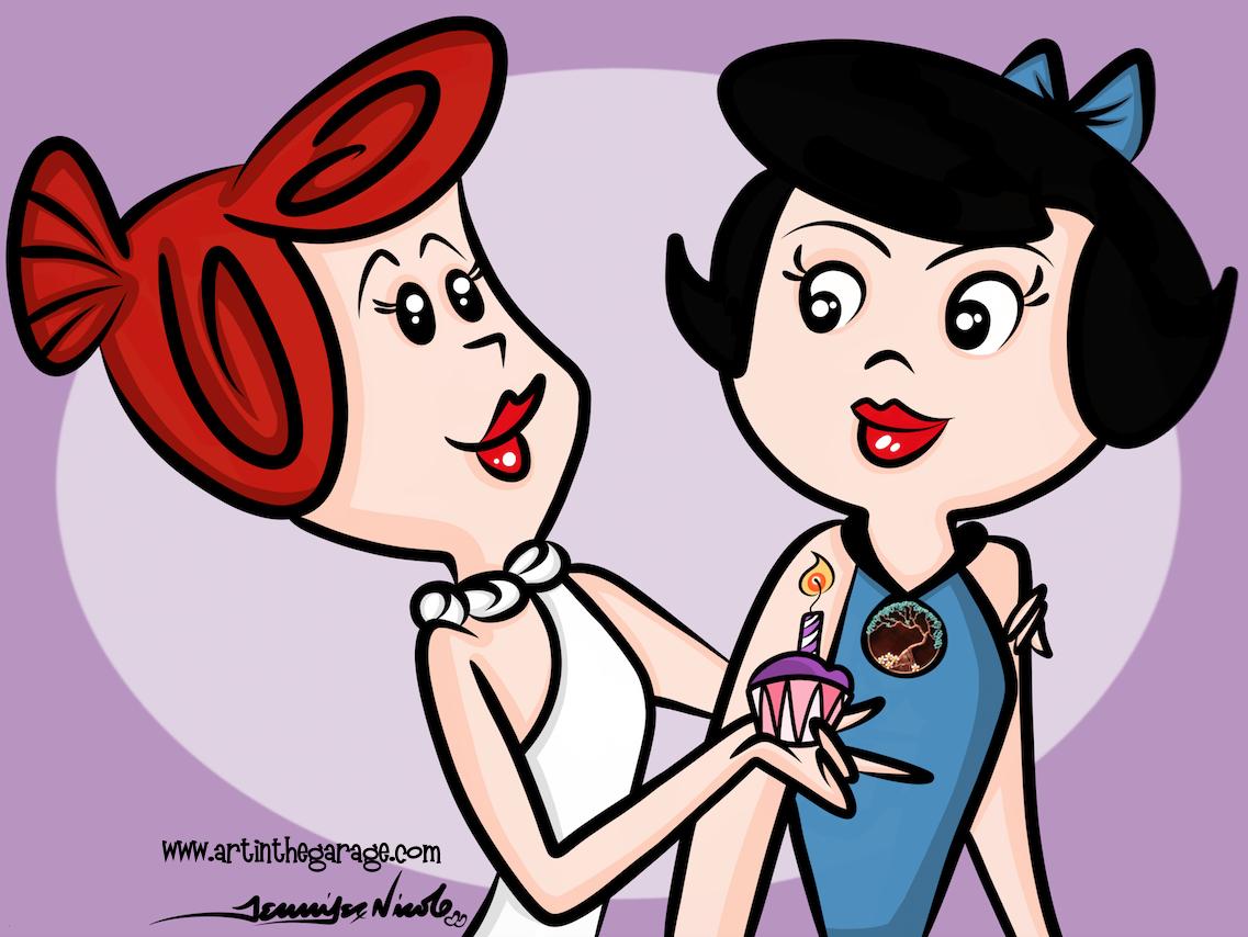 12-16-15 Wilma and Batty Celebrate A Birthday
