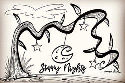 2-6-19 Starry Nights Coloring Page
