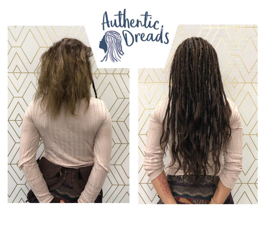 Let's check the Pros and Cons of Dreadlocks Extensions. If you're not a patient person, this is a great way to set it up. Your hair will immediately be in a good length to tie and bun. We can add extensions to already made dreadlocks so you can skip any links you choose. Extensions are good for people who want to create a certain look straight away.
