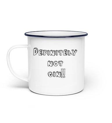 Definitely not gin enamel mug
