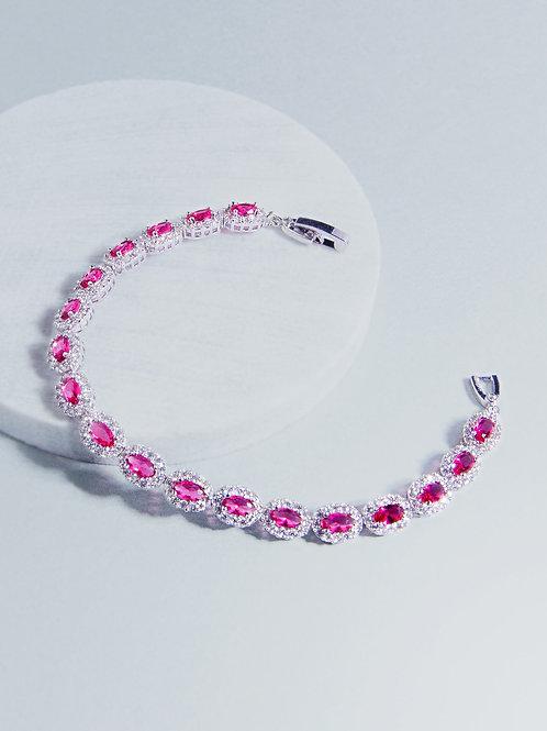 Amira Ruby Stone Bracelet