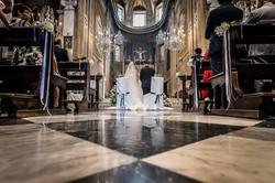 La navata e gli sposi