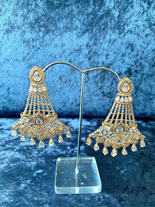 Zirconia Earrings in Silver or Gold