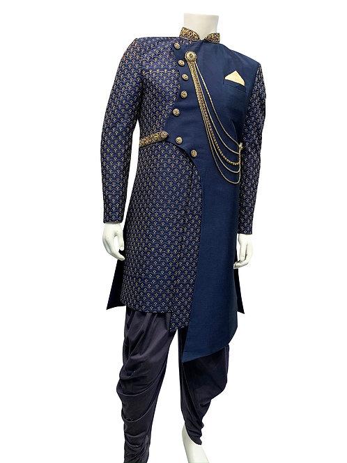 Navy Blue Sherwani