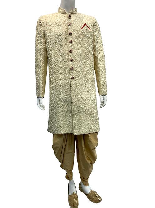 Cream/beige Thread Work Sherwani