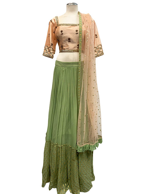 Light Green Silk Lehenga