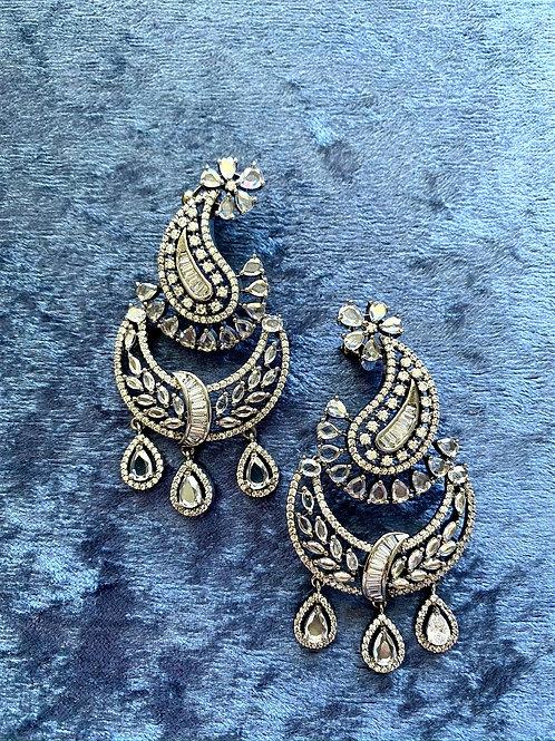 Zirconia Silver Earrings