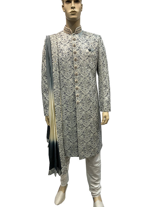 Blend Silk Embroidery Sherwani