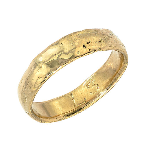 Gold Western Wall Imprint Ring (Thin Band)