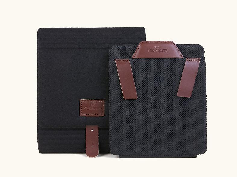 Pack Boîte à chemise et Roule chemise acajou, pour plier et transporter ses chemises sans les froisser en valise
