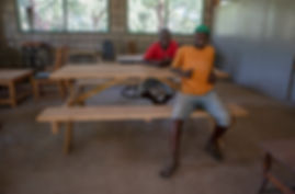 Watoto Foundation boys from The Child in the Sky project at wood working workshop | Arusha Tanzania
