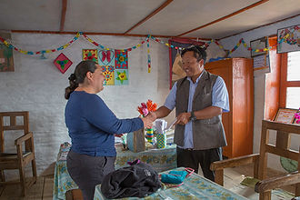 Donation to Nangi School, Annapurna-Dhaulagiri Community Trail, Nepal