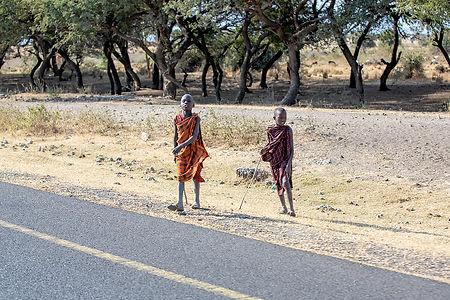 Shots and Tales | Maasai children on the roadside | Near Ngorongoro Crater Tanzania