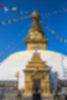 Swayambhunath Temple detail, Kathmandu, Nepal