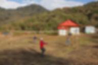 Playing Volleyball at Danda Kharka, Annapurna-Dhaulagiri Community Trail, Nepal