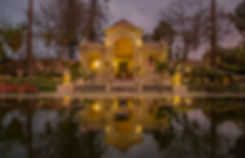 Pond at Garden of Dreams in the evening, Kathmandu, Nepal