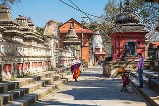Nepal, Kathmandu, Pashupatinath Temple, Sadhus on the Temple grounds