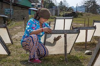 Nepali woman making lokta paper, Nangi, Annapurna-Dhaulagiri Community Trail, Nepal