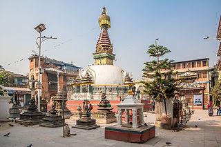 A small stupa in Kathmandu Nepal