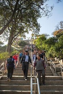 Stairs leading to Swayambhunath Temple, Kathmandu, Nepal