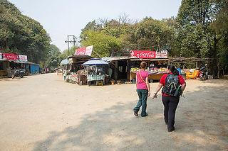 Square and shops at the Viewing Tower, Nagarkot, Nepal